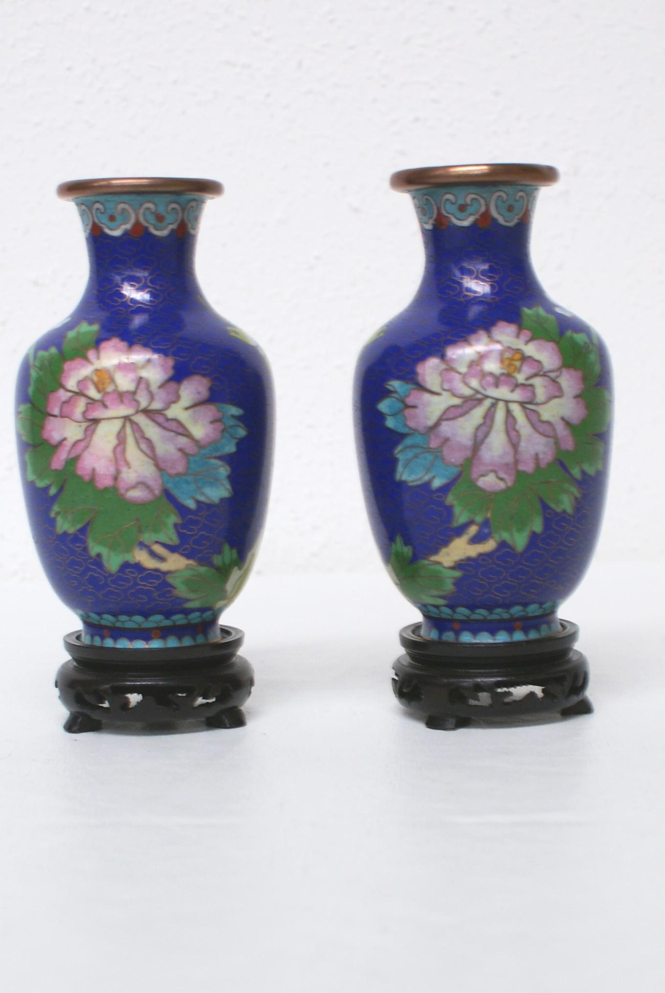 2 Messing Vasen, asiatisch Image