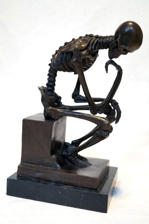 Bronzefigur, Denker-Skelett Image