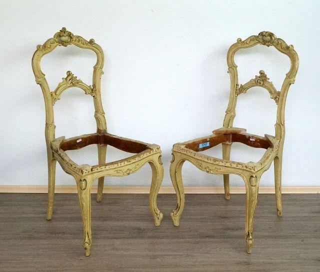 2 Barockstühle zum Aufarbeiten Image