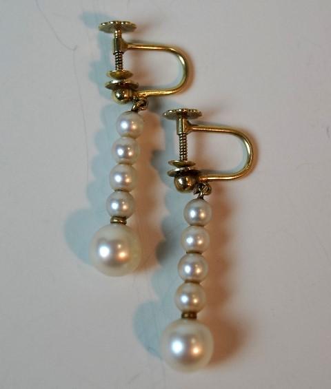 1 Paar Ohrgehänge mit je 5 Perlen Image