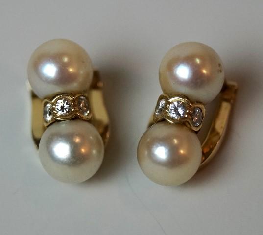 1 Paar Ohrclipse mit je 2 Perlen Image